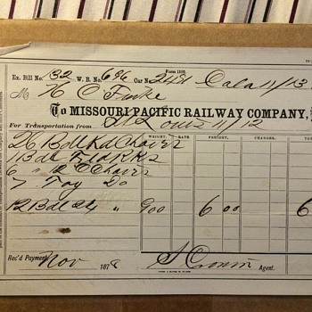 1878 Missouri pacific railroad bill
