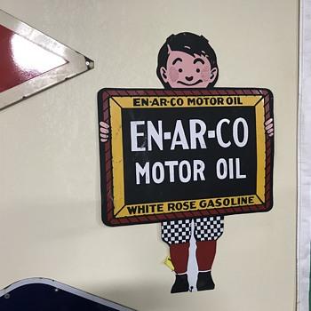En-Ar-Co motor oil sign  - Petroliana