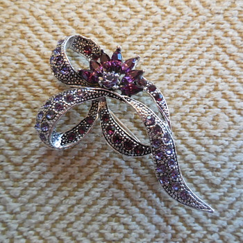 Vintage Rhinestone Brooch Maker? - Costume Jewelry