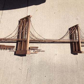 Copper Brooklyn Bridge sculpture Curtis Jere  - Fine Art