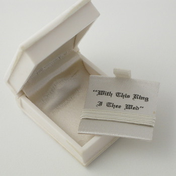 White Book Celluloid Ring Box - Fine Jewelry