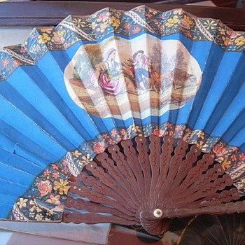 Striking royal blue fan - Accessories