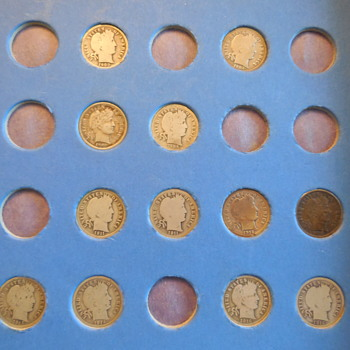 A few U. S. Barber and Mercury Dimes - US Coins
