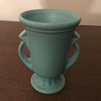 Matte turquoise robin egg blue vase - Pottery
