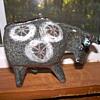 Alfaraz Spanish Ceramic Bull. Mid-Century Modern Art Pottery.
