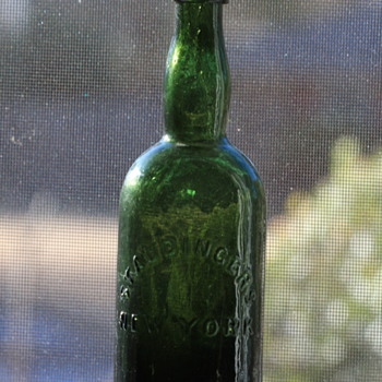 ***Old Pontiled Black Glass Beer Bottle***