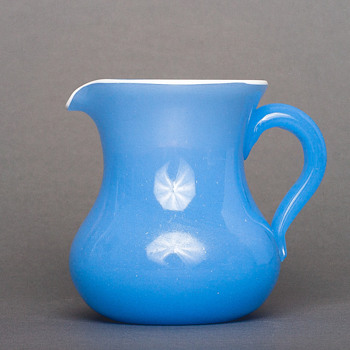 blue tango creamer - Art Glass