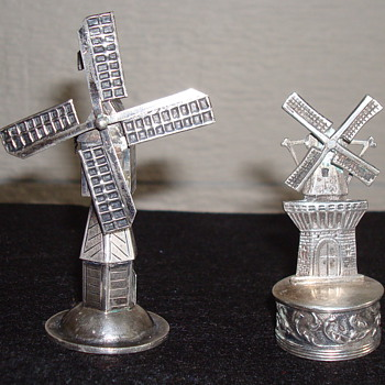 Dutch Windmill ...not sure what they are - Silver