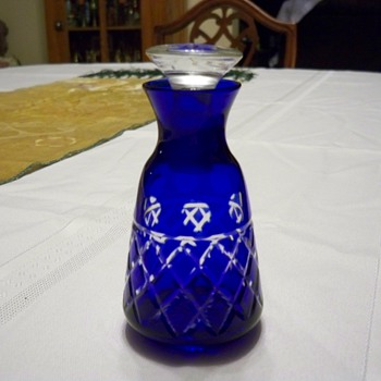 Cobalt to clear perfume bottle