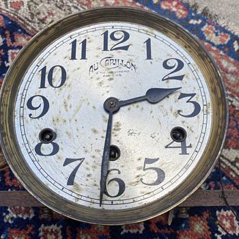 Antique clock Face/Movement AU CARILLON  - Clocks