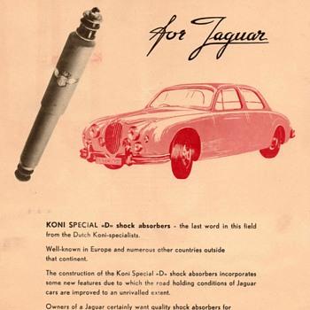 "1958 - KONI Shocks for Jaguar"" Advertisement Flyer"