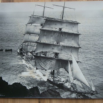 1912 Old Ship photo  - Gunvor-Lizard -   by Gibson photographer.    - Photographs