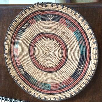 Woven Straw Tray