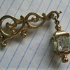 Vintage Signed Pennino Dangle Lamp Crystal Brooch Pin