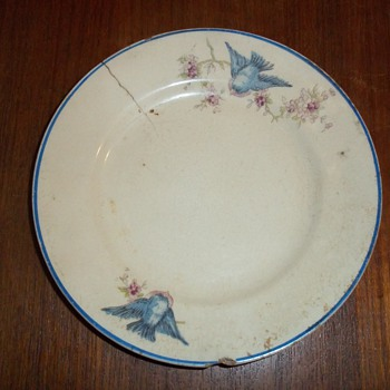 Bluebird plate - China and Dinnerware