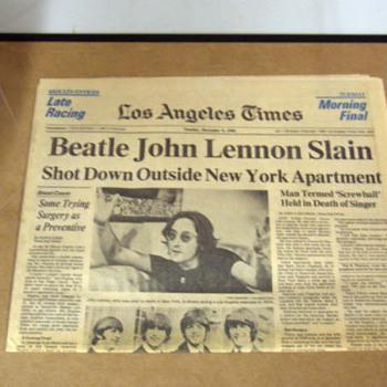 L.A. Times-December 9,1980... - Music Memorabilia