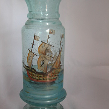 Christopher Colmumbus santa maria glass vase - Art Glass