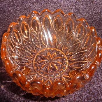 Pink depression pressed glass bowl? - Glassware