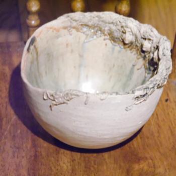 Old Japanese Pottery/Ceramic Bowls Art Nouveau Women Faces Possible Akiko Hirai - Pottery