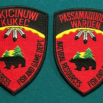 Native American Law Enforcement Patches (Maine) - Medals Pins and Badges