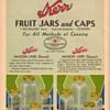 1933-34 Kerr Canning Jars & Lids