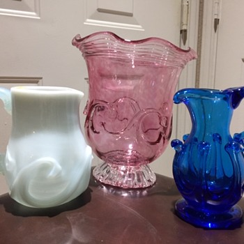 LilyPad Blown Art Glass Pitchers & Vase Collection - Art Glass
