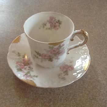 Limoges Demitasse teacup and saucer