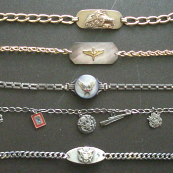WWII Home front Sweetheart Bracelets - Military and Wartime