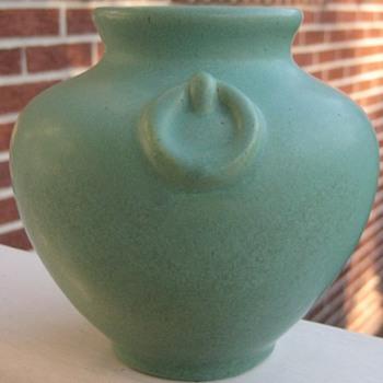 Ohio Region Yellow Pottery Ovoid Vase By Who???