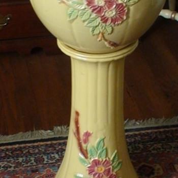 Robinson-Ransbottom Wild Rose Jardiniere - Pottery