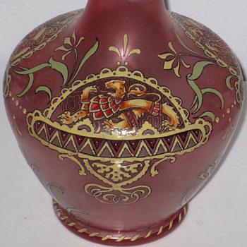 FRITZ HECKERT CLARET JUG c1885 - Art Glass