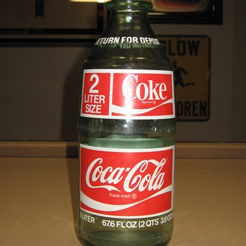 2 Liter Glass Coca-Cola Bottle - Coca-Cola
