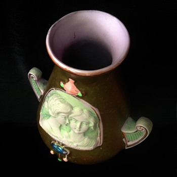 Quirky little glazed ewer my Aunt Doris gave to me when I was 10.  - Pottery