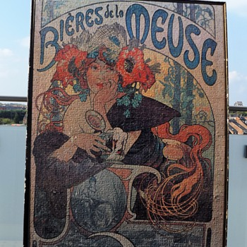XL puzzle A.Mucha Bieres de la Meuse - Art Nouveau