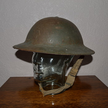 British WWI steel helmet, issued earlyWWII