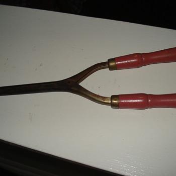 antique curling iron - Victorian Era