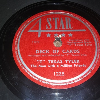 "Way Back Wednesdays...Mr. ""T"" Texas Tyler...On 78 RPM Shellac - Records"
