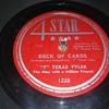 "Way Back Wednesdays...Mr. ""T"" Texas Tyler...On 78 RPM Shellac"
