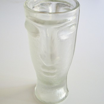 Two Faces Vase - Art Glass