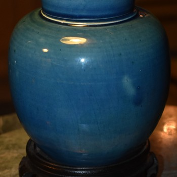Awaji Ginger Jar in Light or Sky Blue - Asian