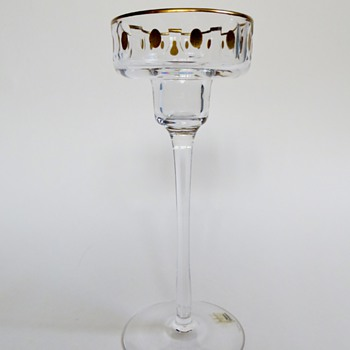 Kosta Candlestick with Gold~Signed & Numbered~Designer? - Art Glass