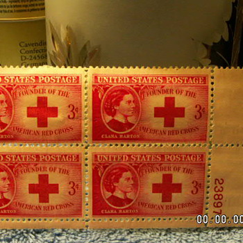 1948 Clara Barton Founder Of The Red Cross 3¢ Stamps - Stamps