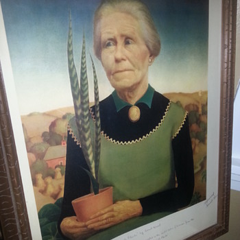 Grant Wood Litho 1938 Artist Signed