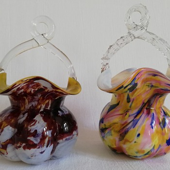 Two Welz Baskets - Art Glass