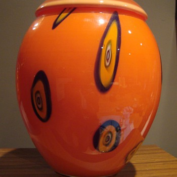 Very large and orange vase