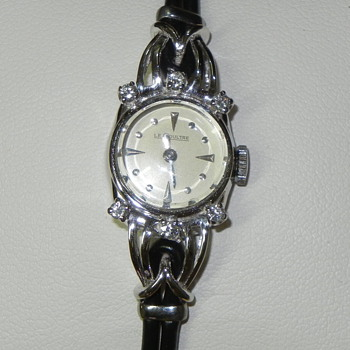1950s Jaeger Le Coultre Ladies watch, with Turbillon movement, in 18K with 6 small diamonds