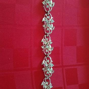 Vintage Lovely Rhinestone Bracelet - marked Coro