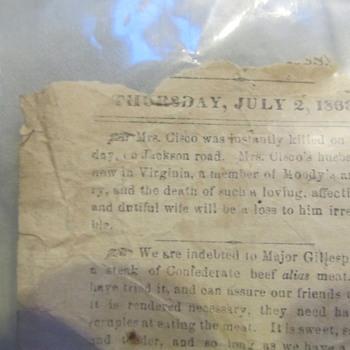 July 2, 1863 Wallpaper Newspaper Gen. Lee Civil War