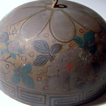 Chinese Brass/Bronze/Copper? Dome Shaped Bell?, Beautiful, Handpainted.