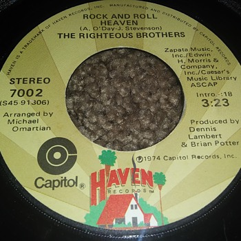 The Righteous Brothers...On 45 RPM Vinyl - Records